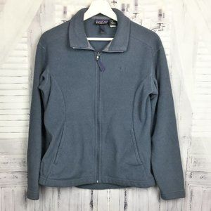 Patagonia Fleece Jacket Full Zip Gray Fitted M